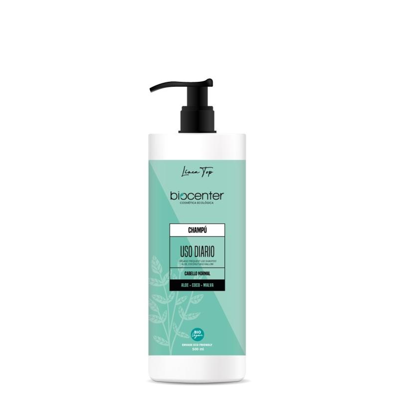 Biocenter Top - Champú ecológico Uso Diario - Envase Ecofriendly 500 ml